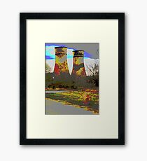 Tinsley Cooling Towers Warhol style Framed Print