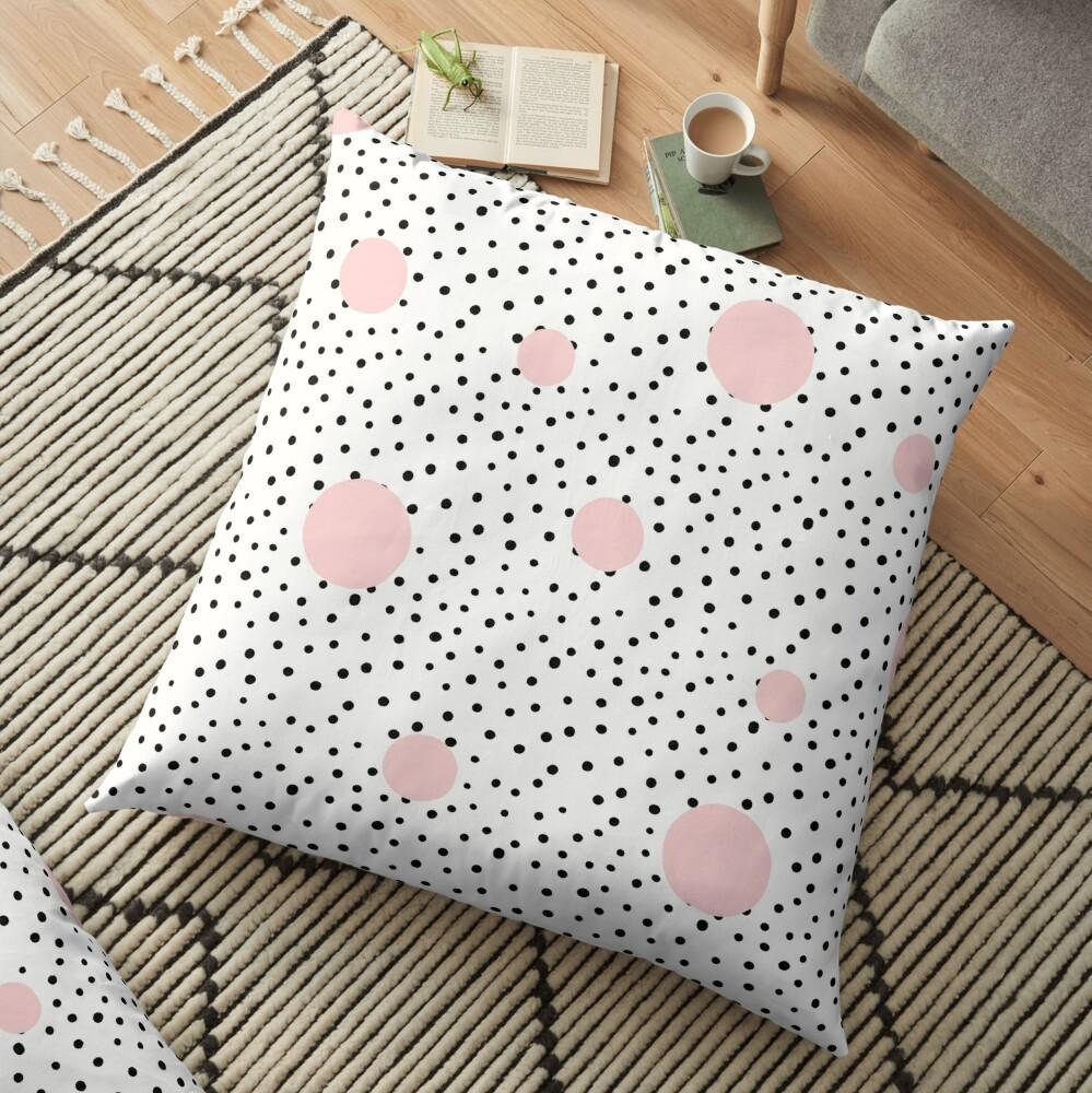 Trendy Abstract Art Floor Pillow