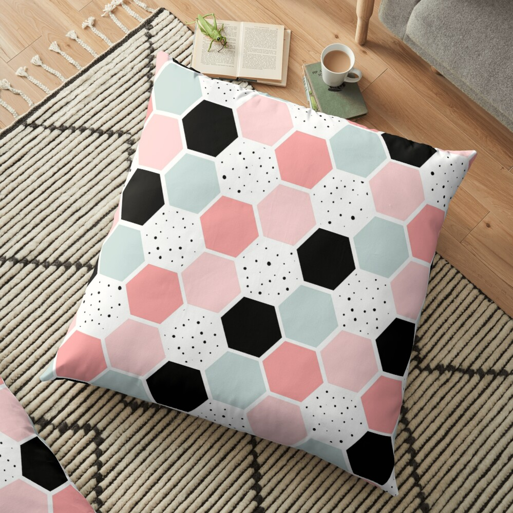 Trendy Abstract Art Floor Pillow