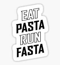 Eat Pasta Run Fasta v2 Sticker