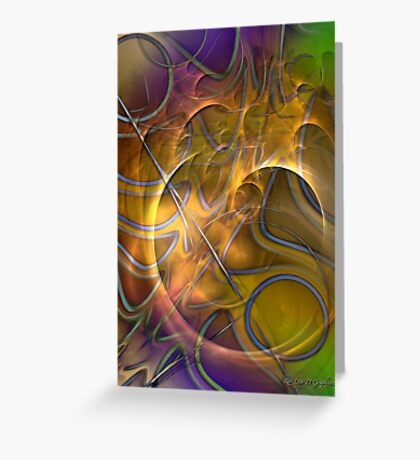Fire On High (Art & Poetry) Greeting Card