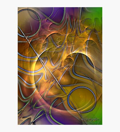Fire On High (Art & Poetry) Photographic Print