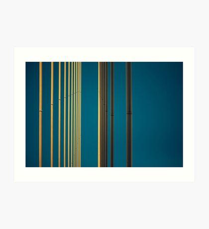 Gelbe Linien in den Himmel Kunstdruck