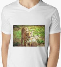 Animal Portrait - Bengal Tiger Men's V-Neck T-Shirt