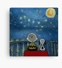 snoopy starry night Canvas Print