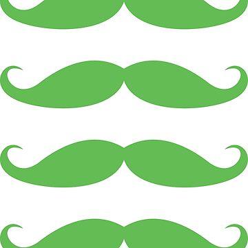 Pegatinas de bigote verde, juego de cuatro para el día de San Patricio de Mhea