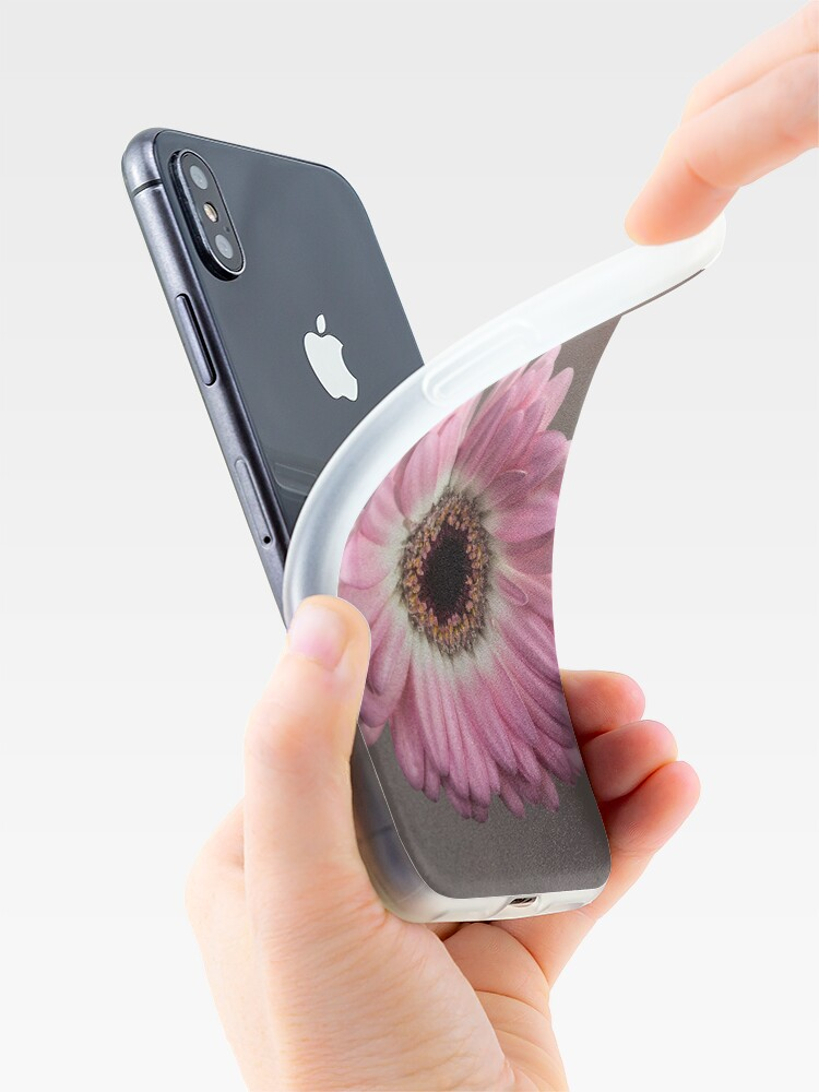 Alternate view of Single pink Gerbera Flower iPhone Case & Cover
