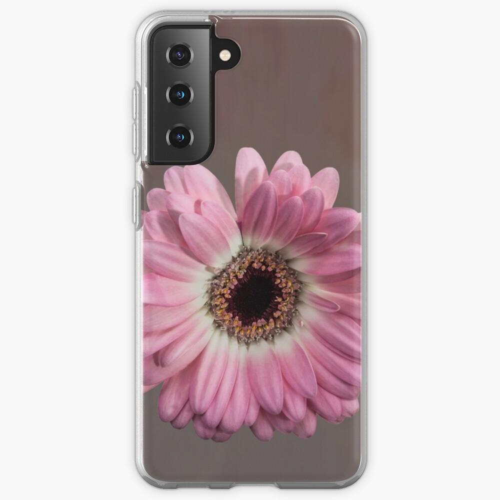 Single pink Gerbera Flower Samsung Galaxy Phone Case