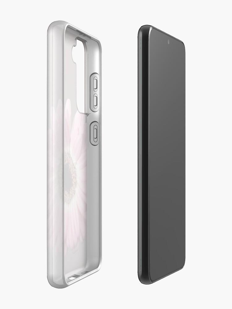Alternate view of Single pink Gerbera Flower Samsung Galaxy Phone Case