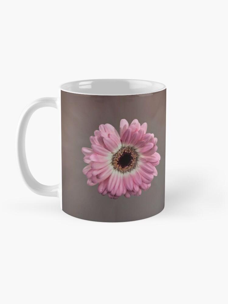 Alternate view of Single pink Gerbera Flower Mug