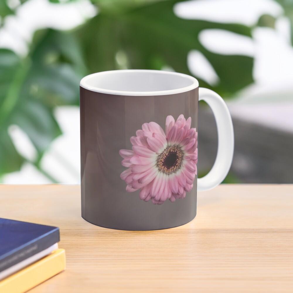 Single pink Gerbera Flower Mug
