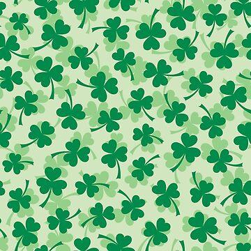 Patrón de trébol - trébol de tres hojas del día de San Patricio verde de Mhea
