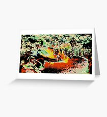 Modern abstract, multicolored Greeting Card