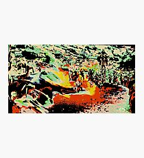 Modern abstract, multicolored Photographic Print