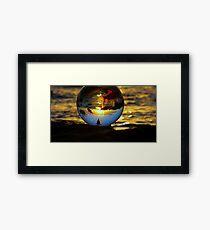 """ The World according to Goldfish "" Framed Print"