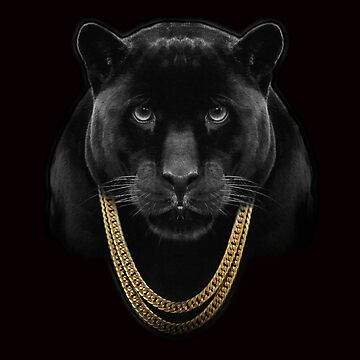 BLACK PANTHER -  Gold Chains  by stuph4kewlkidz