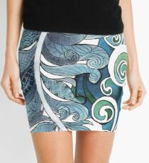 Elemental Patterns Storm and Ocean Mini Skirt