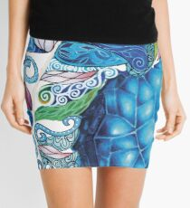 Elemental Patterns Wind and Ice Mini Skirt