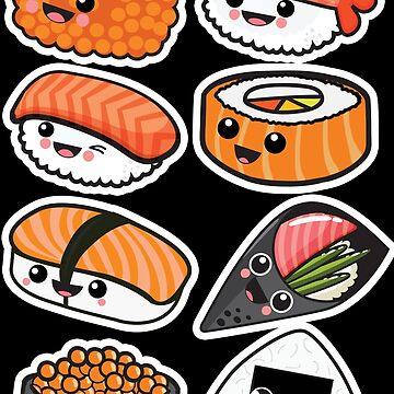 Sushi Family by plushism