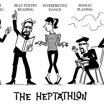 The Heptathlon by goddardcartoons