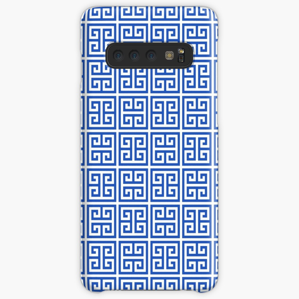 Geometric Pattern: Key Bridge Alternate: Blue Case & Skin for Samsung Galaxy
