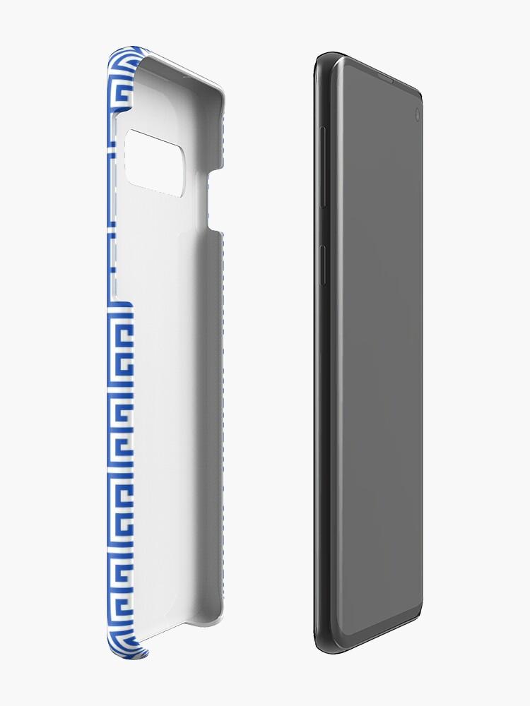 Alternate view of Geometric Pattern: Key Bridge Alternate: Blue Case & Skin for Samsung Galaxy