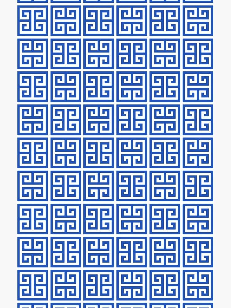 Geometric Pattern: Key Bridge Alternate: Blue by redwolfoz
