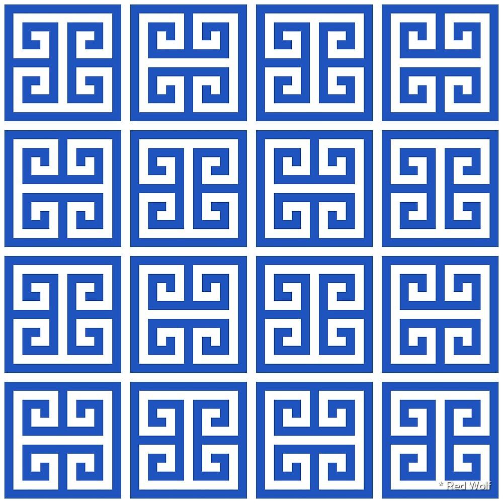 Geometric Pattern: Key Bridge Alternate: Blue by * Red Wolf