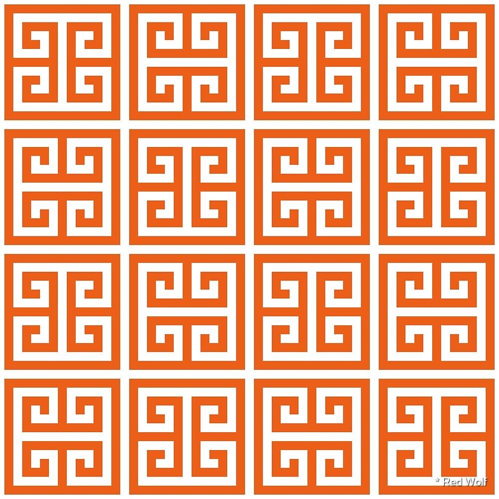 Geometric Pattern: Key Bridge Alternate: Orange by * Red Wolf