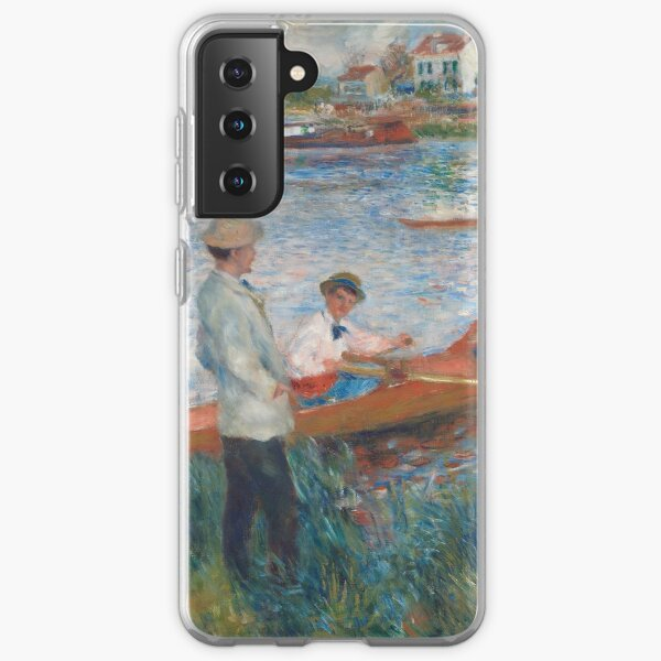Auguste Renoir Oarsmen at Chatou 1879 Painting Samsung Galaxy Soft Case
