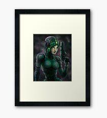 Cyborg Sci Fi Framed Print