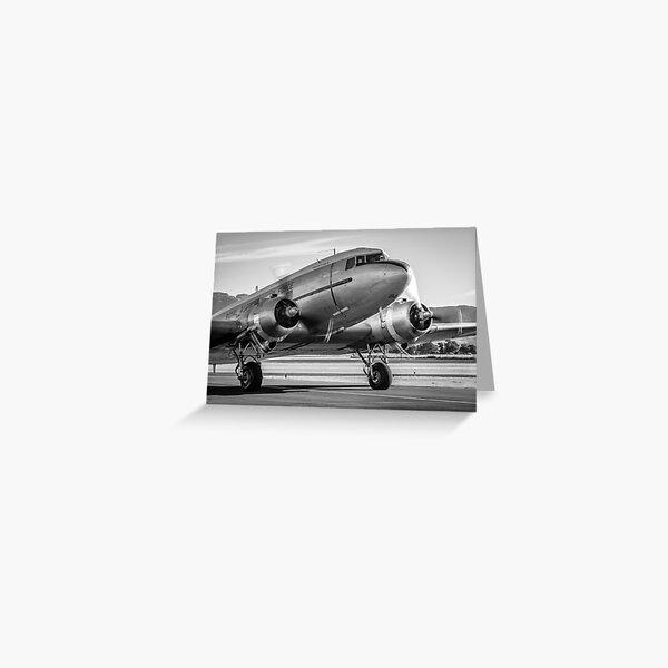 Vintage Plane - DC3 - Dakota - Retro Aeroplane - Airplane Greeting Card