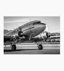 Vintage Plane - DC3 - Dakota - Retro Aeroplane - Airplane Photographic Print