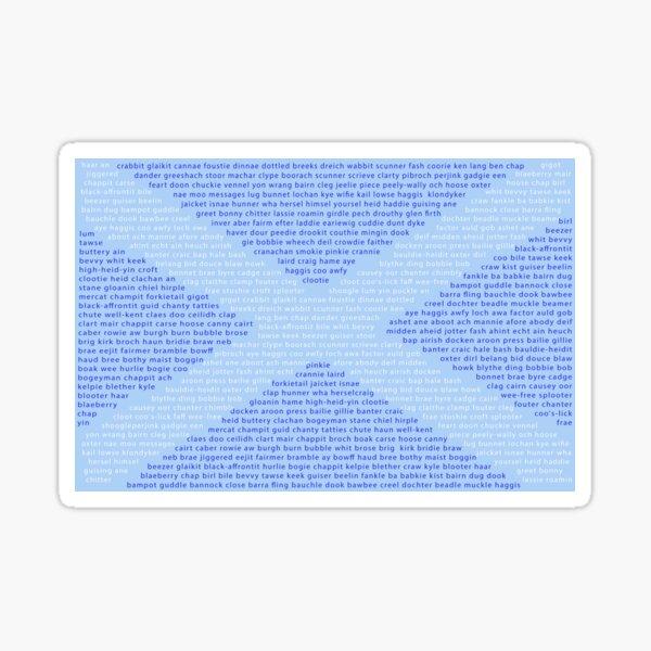 Scottish Words in a Saltire Sticker