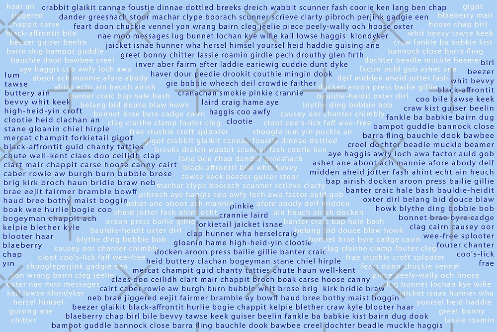 Scottish Words in a Saltire by SiobhanFraser