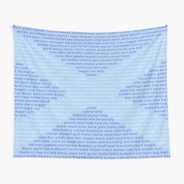 Scottish Words in a Saltire Tapestry