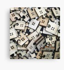 Puzzle Jigsaw Pieces Canvas Print