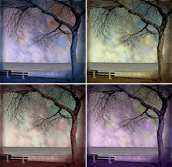 under the tree (collage) by Angel Warda