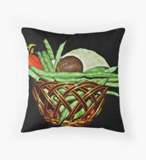 Vegetable Basket. Throw Pillow