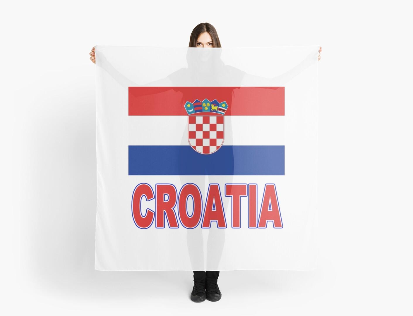 The Pride Of Croatia Croatian National Flag Scarves By Chunga