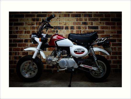 Klassisches Honda Z50 Affe Fahrrad