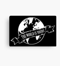 The world is yours, Tony Canvas Print