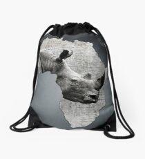 Mutter Afrika mit seinem kostbaren Nashorn Rucksackbeutel