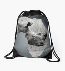 Mother Africa with its precious Rhino Drawstring Bag