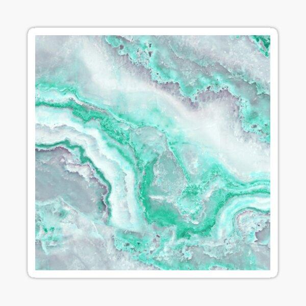 Luxury Mermaid Green Agate Marble Geode Gem Sticker