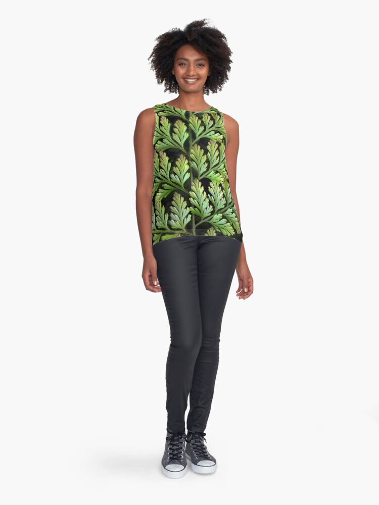 Alternate view of Leaf Abstract Sleeveless Top