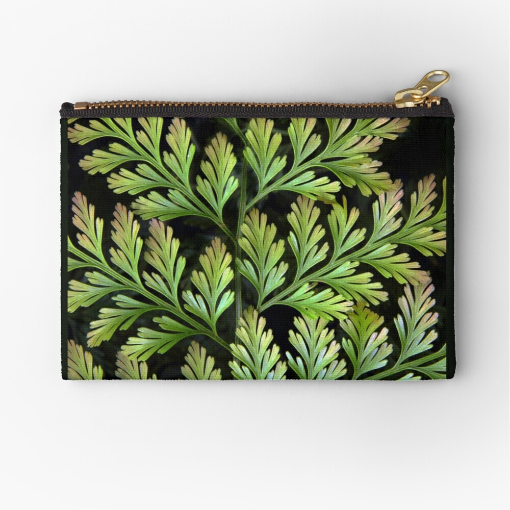 Leaf Abstract Zipper Pouch