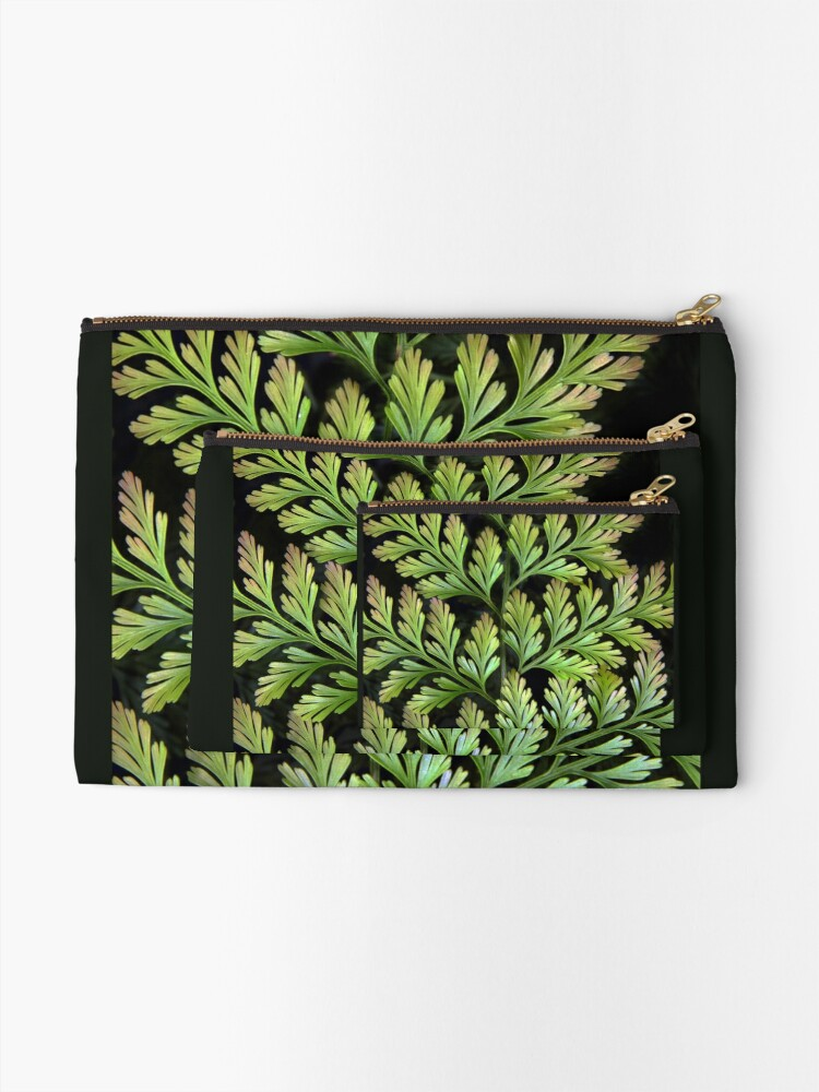 Alternate view of Leaf Abstract Zipper Pouch