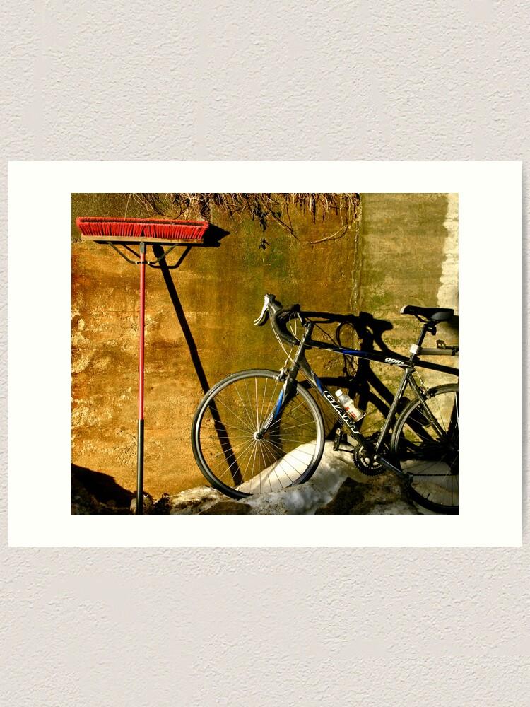 Alternate view of Broom & Bike On Ice Art Print