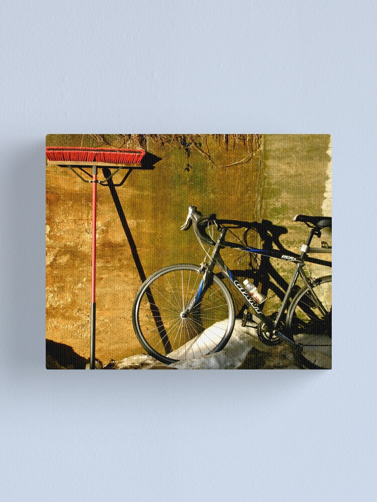 Alternate view of Broom & Bike On Ice Canvas Print